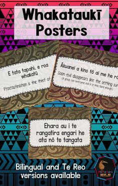 Māori whakataukī or māori proverbs classroom posters also suitable for the work…