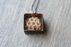 Wasp Nest Pendant Necklace by HartVariations on Etsy