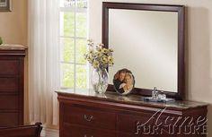Louis Phillipe Iii  Cherry Mirror-Dresser 19524-19525 By Acme