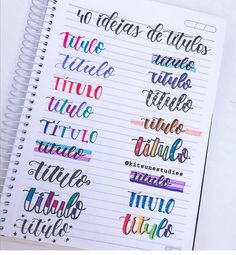 Hand Lettering Styles, Hand Lettering Fonts, Doodle Lettering, Lettering Tutorial, Bullet Journal Lettering Ideas, Bullet Journal Titles, Bullet Journal Notebook, Bullet Journal Aesthetic, Schrift Design