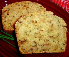 *Parmesan Garlic Ranch Beer Bread (PB, parm., fresh chives, Ranch seasoning, greek yogurt & beer)