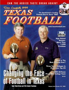 Dave Campbell's Texas Football - 1999 Summer Edition - featuring Texas' Mack Brown & TCU's Dennis Franchione
