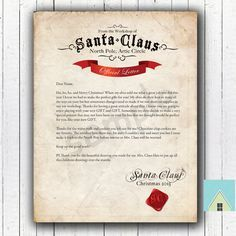 Editable letter from santa printable letter from by printsbylj editable letter from santa printable letter from by printsbylj janice pinterest printable letters santa and personalised santa letter spiritdancerdesigns Choice Image