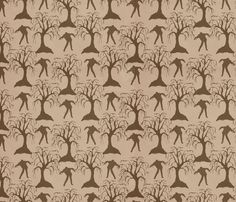 Zombie_Forest fabric by viewfromtheskye on Spoonflower - custom fabric