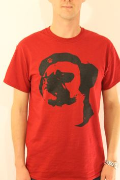 Bey Black on Red by Ryan Chamberlain - Limited edition artist led T-Shirts and Hoodies exclusively available from www.inkytees.co.uk