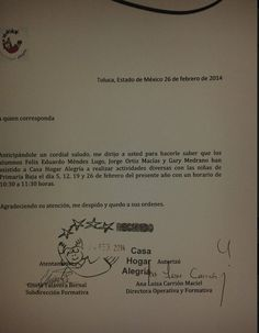 registro de asistencias  Felix Gary Jorge