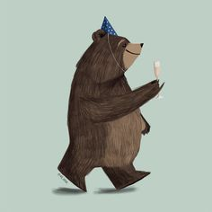 I just love bear illustration so much. Illustration Inspiration, Children's Book Illustration, Character Illustration, Bear Drawing, Love Bear, Bear Art, Photomontage, Character Design, Drawings