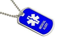 Medical Alert - Military Dog Tag Keychai...