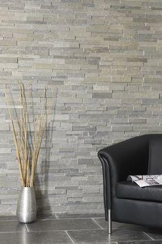 Plaquette de parement petra en pierre naturelle beige for Mur pierre blanche interieur