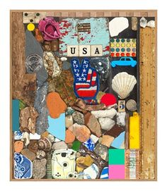USA Series - Stone and Shells (Silkscreen with Diamond Dust Signed Limited Edition of 100) by Peter Blake