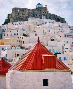 A photo journey in Greece - Chora, Astypalea island Greece 🇬🇷. Greece Pictures, Ocean Pictures, Ocean Pics, Santorini Greece, Mykonos, Places Around The World, Around The Worlds, Greek Isles, Greece Islands