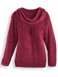 4b9e8c3b61fa6c Chenille Sweater with Scarf - <p> Exquisite softness and lightweight  warmth, including. Blair
