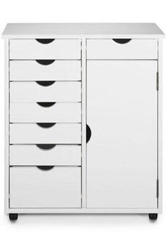 "Stanton 7 + 1 Drawer Double wide Storage Cart With Door, 35.5""Hx29""W, WHITE Home Decorators Collection http://www.amazon.com/dp/B003H7046S/ref=cm_sw_r_pi_dp_FqSPwb0ENR33A"