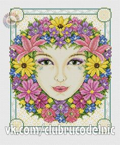 Summer Goddess by Joan Elliott (1 of 7), Cross Stitch Collection #211 July 2012