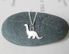 Sterling Silver Bronto Pendant Necklace :: for her ::