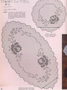 Croche maravilha de arte: caminho de mesa:
