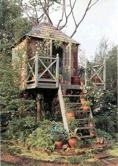 Adult tree fort. Love!