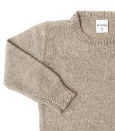 Snowdrop Sweater / Linen Beige #nievaknitwear