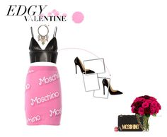 Edgy Valentine ° Moschino by naturally-jolie on Polyvore featuring T By Alexander Wang, Moschino, Christian Louboutin, Betsey Johnson, edgyvalentine and 60secondstyle