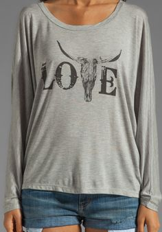 bb8486eb76c280 HAUTE HIPPIE Love Tee in Light Heather Grey at Revolve Clothing - Free  Shipping! Country