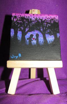 Mini Canvas - Forest of Love by FerretJAcK on DeviantArt Art Cards, Mini Canvas, Mini Paintings, Deviantart, Love, Amor