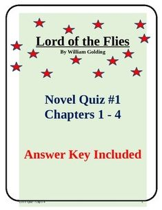 Use this quiz to test your students understanding of chapters 1 through 4 of Lord of the Flies. Sections include:- Multiple choice questions- character questions- vocabulary- short answerDownload in a Microsoft Word document for easy editing and updating.