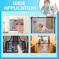 Magic Gate Dog Safeguard – Geniwo Retractable Dog Gate, Dog Life Vest, Pet Barrier, Cat Water Fountain, Cat Litter Mat, Baby Gates, Pet Gate, Cute Baby Dogs, Bernese Mountain