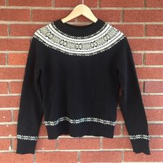 J. Crew holiday wool sweater Warm and cozy %100 wool sweater to keep you warm and looking cute for the holidays. Good used condition. Some piling has started but nothing noticeable when worn. Make me an offer  J. Crew Sweaters