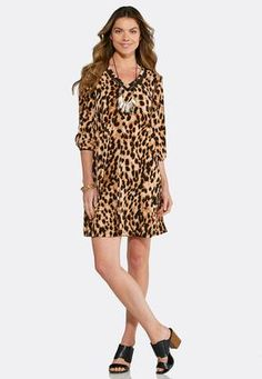 846aff7d635 Cato Fashions Animal Print Swing Dress  CatoFashions Bell Sleeve Dress