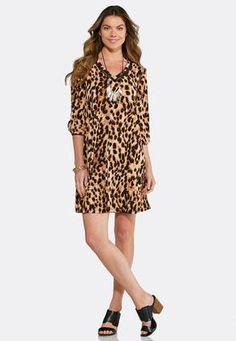 Cato Fashions Animal Print Swing Dress  CatoFashions Bell Sleeve Dress 88219b856