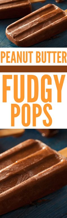 Peanut Butter Fudgy Pops #peanutbutterrecipes #peanutbutter #peanutbutterpopsicles #popsicles #snack #snacks #snackrecipes #healthypopsicles #cleaneatingpopsicles