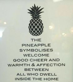 Pineapple meaning. My husband bought me a pineapple charm when our son was born. Pineapple Quotes, Pineapple Pictures, Pineapple Ideas, Pineapple Design, Pineapple Kitchen, Pineapple Room, Good Cheer, Tattoo Ideas, Inspirational Quotes