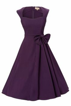 50's dress in dark purple...thinking my mom would love this!