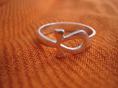 Cute lovely Egyptian Sterling Silver ring, Ankh Ring, key of life, Egyptian ring
