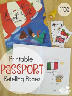 Passport Retelling Pages / #Pages #Passport #Retelling Teaching Activities, Teaching Reading, Apple Unit, Five In A Row, My Father's World, Apple Theme, Tot School, Retelling, Kids Education