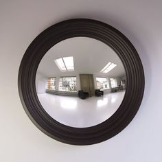 Rohana Decorative Convex Mirror in Black Grain Convex Mirror, Mantles, Round Mirrors, Entrance, Interior Design, Furniture, Black, Home Decor, Nest Design