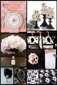Pink, Black & Ivory Wedding