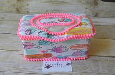 READY TO SHIP Bright Feathers Flip Top Nursery Baby Wipe