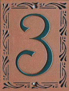 House number with Vine motif works well with Traditional homes as well as Victorian.