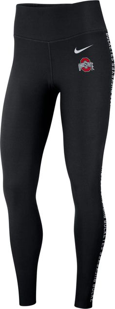 Rep your team pride from head to toe with these form-fitting Duke Blue Devils women's leggings from Nike. Ohio State Buckeyes, Nike Ohio State, Ohio State Logo, Oklahoma Sooners, Workout Leggings, Women's Leggings, Tights, Workout Gear, Jacksonville Jaguars