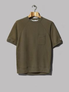 Battenwear Short Sleeve Reach-Up Sweatshirt (Olive French Terry)