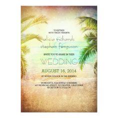 "Sunset beach wedding invitations 5"" x 7"" invitation card"