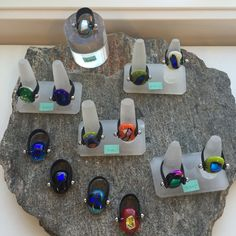 Fused glass - rings