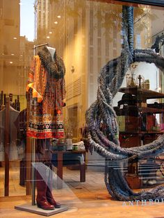 Anthropologie store front window display