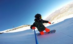 It's time to get back on the slopes! Captured by Gautier Gallas with the #UShot telescopic pole & a GoPro. #snowboard