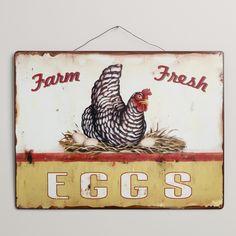 Metal Fresh Eggs Sign  SKU# 432769  $14.99 sale $7.49