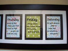 chore chart idea with added fun chores