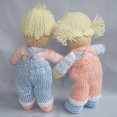 Jack and Jill Dolls knitting pattern INSTANT by dollytime on Etsy