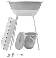 LUMA asistencia para los niños, juego de baño, 8 uds., Gray (blanco / plata espumoso)