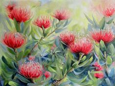#Proteas#CapeTown#PincushionProtes Oil on canvas painted by Ellie Eburne